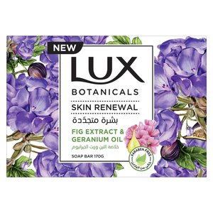 Lux Botanicals Skin Renewal Bar Soap Fig Extract And Geranium Oil 4x120g