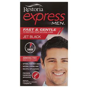 Restoria Express Black Hair Color for Men 1pc