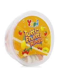 Yupi Tutti-Frutti Rings Tub 170g