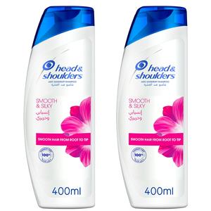 Head & Shoulders Smooth And Silky Anti-Dandruff Shampoo Dual Pack 2x400ml