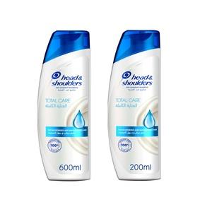 Head & Shoulders Total Care Anti-Dandruff Shampoo 600ml+200ml