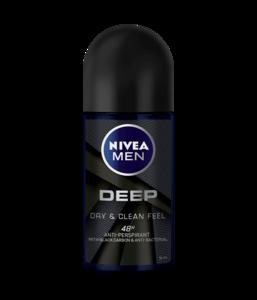 Nivea Men Deep Black Carbon Deodorant 200ml