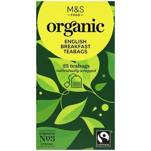 Organic English Breakfast Teabags 25g