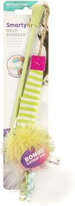 Smartykat Silly Swinger Feather And Catnip Wand Cat Toy 1pc
