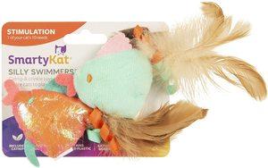 Smartykat Silly Swimmer Fish Goldfish Catnip Cat Toys 2pcs