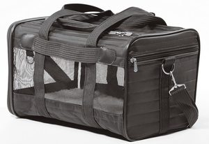 Sherpa Travel Original Deluxe Airline Approved Pet Carrier Brown Medium 1pc