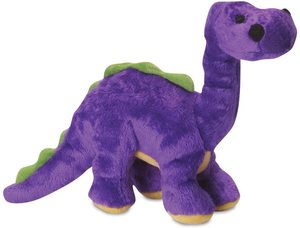 Godog Dinos Bruto With Chew Guard Technology Durable Plush Squeaker Dog Toy Purple Mini 1pc