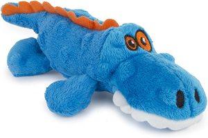 Godog Gators With Chew Guard Technology Durable Plush Squeaker Dog Toy Blue Large 1pc