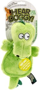 Hear Doggy Flattie Cow With Chew Guard Technology And Silent Squeak Technology Plush Dog Toy 1pc
