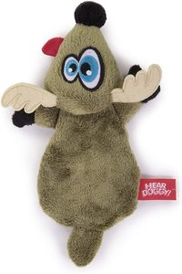 Hear Doggy Flattie Gator With Chew Guard Technology And Silent Squeak Technology Plush Dog Toy 1pc