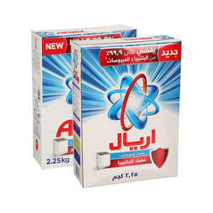 Ariel HS Antibacterial Detergent Powder 2x2.25kg