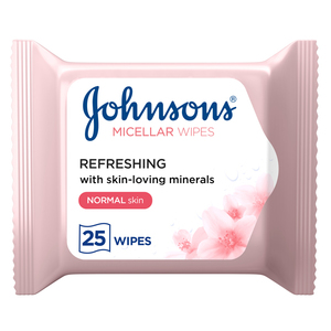 Johnson's Cleansing Face Micellar Wipes Refreshing Normal Skin 25s