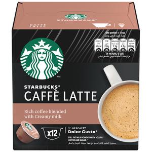 STARBUCKS Caffe Latte by NESCAFE DOLCE GUSTO Coffee Pods 121.2g