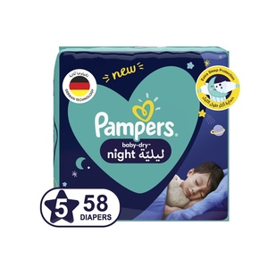 Pampers Baby Dry Night Diapers Size 5 12-17kg 58 pcs
