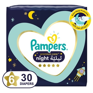 Pampers Premium Care Night Diapers Size 6 14+kg 30 pcs