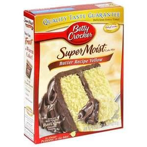 Betty Crocker Supermoist Butter Recipe Yellow Cake Mix 432g