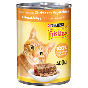 Purina Friskies Chicken & Vegetables In Chunkpound Wet Cat Food 400g