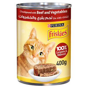 Purina Friskies Beef & Vegetables In Chunkpound Wet Cat Food 400g