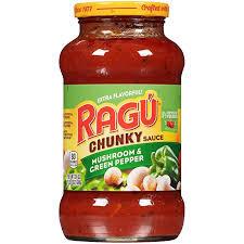 Ragu Pepper Sauce Mushroom & Green 680g