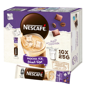 Nescafe Mocha Ice Coffee Mix Sachet 10x25g