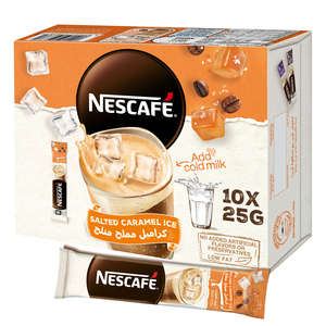 Nescafe Salted Caramel Ice Coffee Mix Sachet 10x25g
