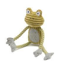 "Mutts & Hounds Fredrik Frog Plush Dog Toy 14"" 1pc"