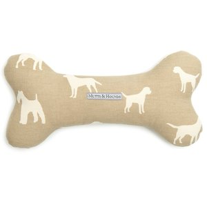 Mutts & Hounds French Grey Squeaky Bone Toy Medium 1pc