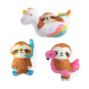 PetShop by Fringe Studio Summer Sloths Dog Toy Small 3pcs