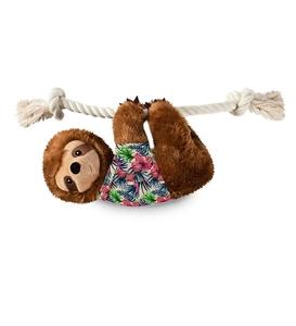 PetShop by Fringe Studio Hangin Around Summer Sloth Plush Dog Toy Large 1pc