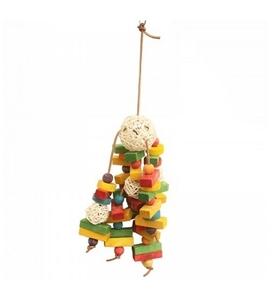 Pado Bird Toy on Leather String 1pc