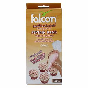 Falcon Retail Piping Bags With Nozzle 45cm - 30 pcs