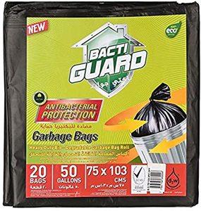 Bacti Guard Bio-Degradable Black Garbage Bags 75x103cm - 20pcs