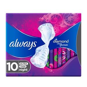 Always Diamond Flexfoam Large Sanitary Pads With Wings 10pcs