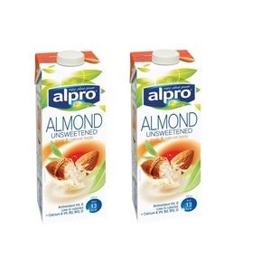 Alpro Almond No Sugar Milk 2x1L