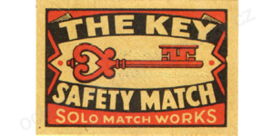 Solo The Key Safety Matches 1pc