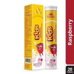 Sunshine N Kids Multivitamin Raspberry Ef Tabs 20s
