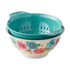 Pioneer Medium Bowl With Colander 1set
