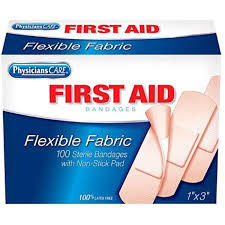 First Aid Fabric Bandages 20s