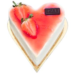 Strawberry Cheesecake Heart Shape 1 pc