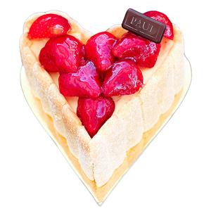 Strawberry Charlotte Heart Shape 1 pc