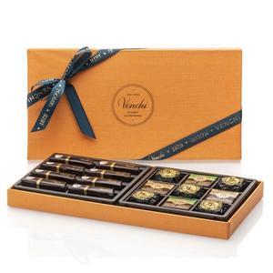 Venchi Assorted Chocolates In Large Orange Gift Box 364g