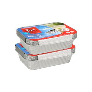 Fun Aluminium Container 1850cc 2x10pcs