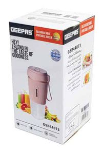 Geepas Rechargeable Portable Juicer GSB44073 1pc