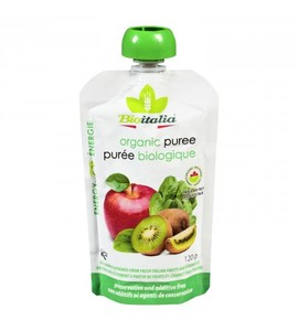 Bioitalia Organic Apple Kiwi Spinach Smoothie 120g