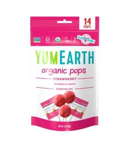 Yum Earth Organic Strawberry Pops 14pcs-87g