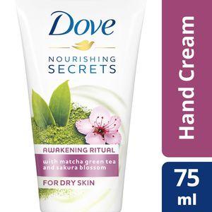 Dove Hand Cream Awakening Ritual With Matcha Green Tea & Sakura Blossom 75ml