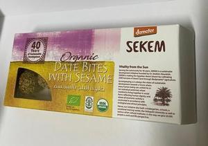 Sekem Organic Date Bites With Sesame 120g