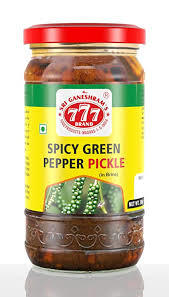 777 Spicy Green Pepper Pickle 300g