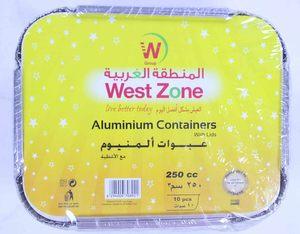 Westzone Aluminium Rectangular Container 8325/250CC 10pcs
