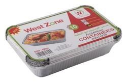 Westzone Rectangular Aluminium Container 8389/890 CC 10pcs